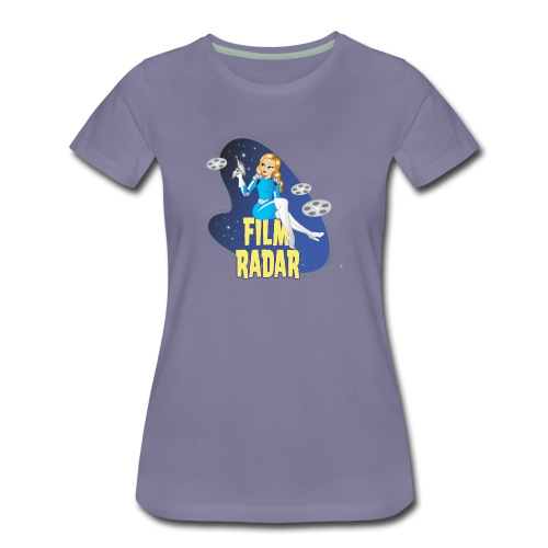 Film Radar space girl logo (blue) - Women's Premium T-Shirt