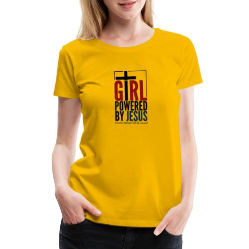 Girl Powered By Jesus | #GirlPoweredByJesus - Women's Premium T-Shirt
