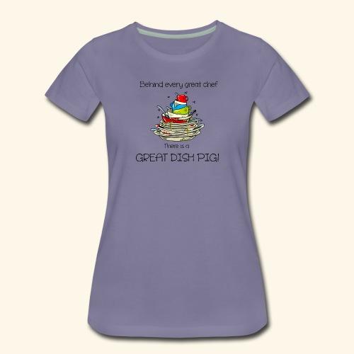 Great dish pig - Women's Premium T-Shirt