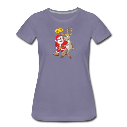 Santa Claus deeply thanks his red-nosed reindeer - Women's Premium T-Shirt
