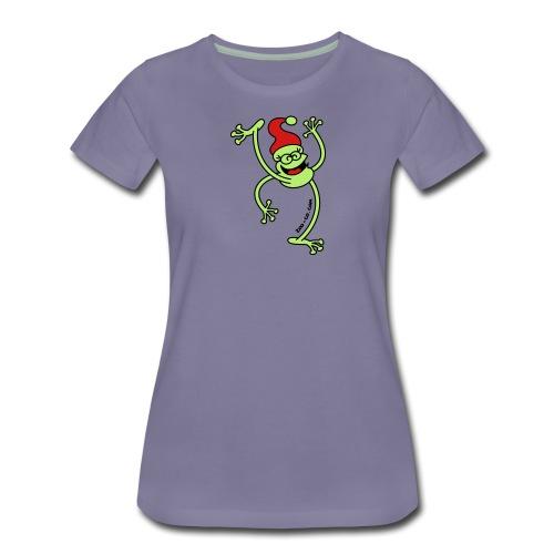 Merry Christmas Frog - Women's Premium T-Shirt