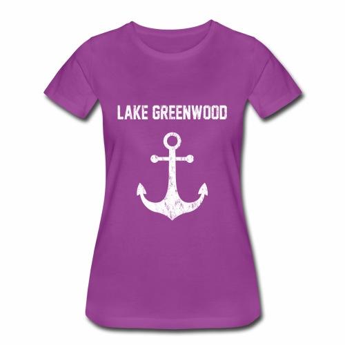 Lake Greenwood South Carolina Anchor Design - Women's Premium T-Shirt
