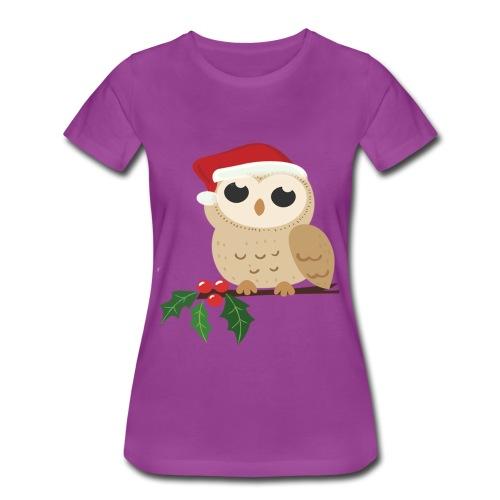christmas Wild owl - Women's Premium T-Shirt