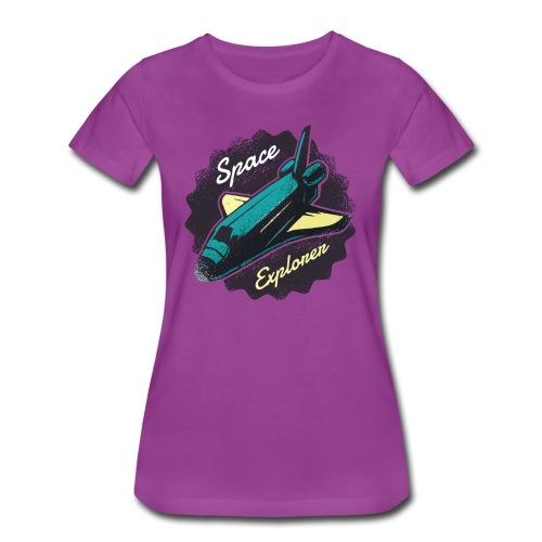 Space Explorer, Cool Grunge Space Shuttle - Women's Premium T-Shirt