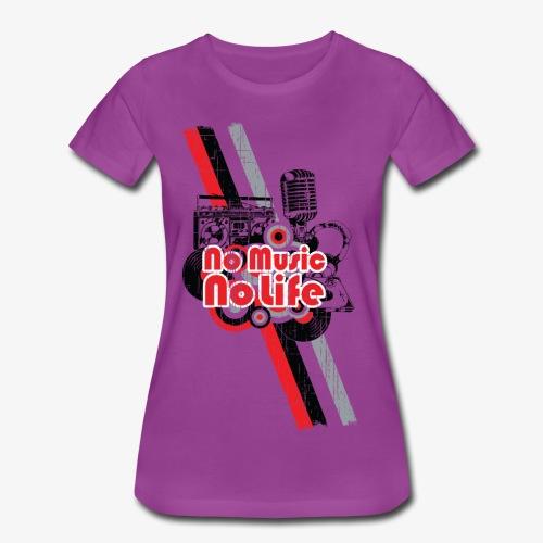 NO MUSIC - Women's Premium T-Shirt