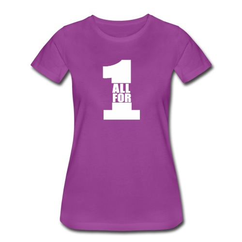 All For One -White- Best Selling Design Best Gifts - Women's Premium T-Shirt