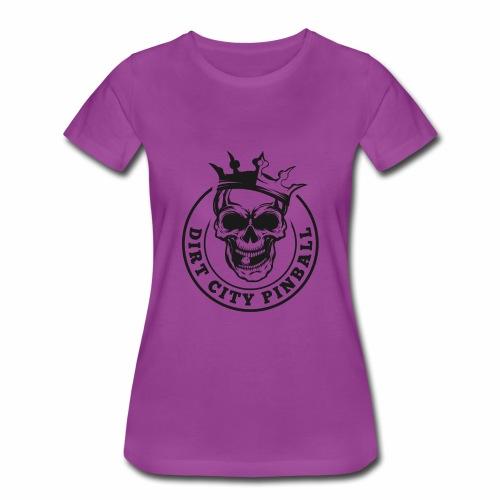 Dirt City Pinball Black/White Logo - Women's Premium T-Shirt