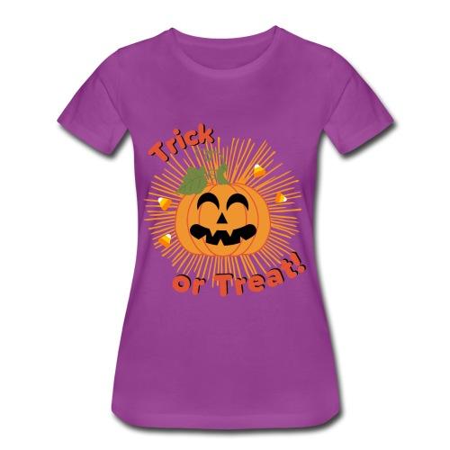 Halloween Trick Or Treat Jack-O-Lantern Pumpkin - Women's Premium T-Shirt
