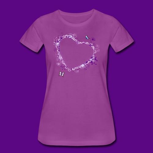 PURPLE HEART AND BUTTERFLIES - Women's Premium T-Shirt