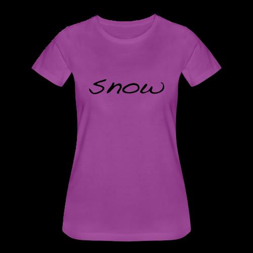 snow present christmas - Women's Premium T-Shirt