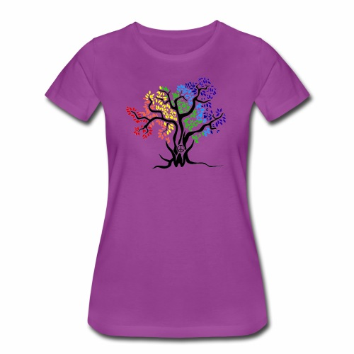 3WC Rainbow Tree - Women's Premium T-Shirt