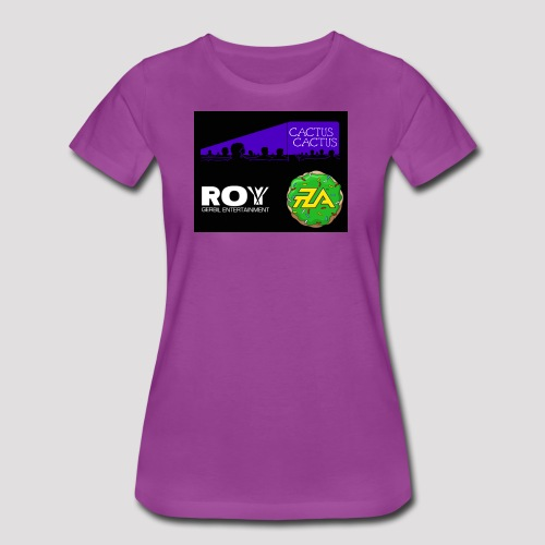 A_Cactus_Purple - Women's Premium T-Shirt
