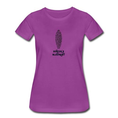 Surfer's Blueprint Ride Waves T-Shirt - Women's Premium T-Shirt