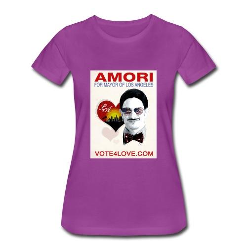 Amori for Mayor of Los Angeles eco friendly shirt - Women's Premium T-Shirt