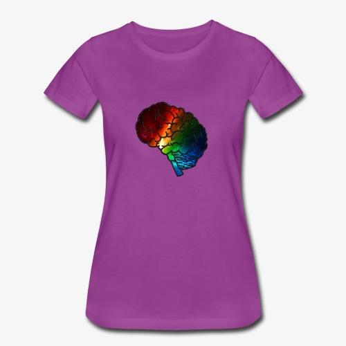 Neurodiversity Rainbow Brain - Women's Premium T-Shirt