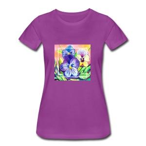Pansies Watercolor - Women's Premium T-Shirt