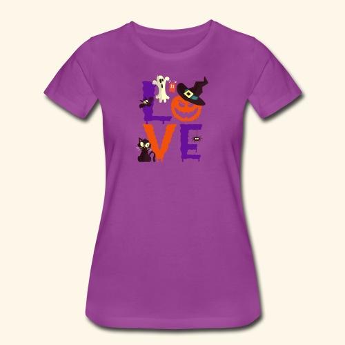 Love Halloween Funny Design - Women's Premium T-Shirt
