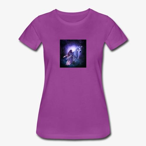 Fairy and her unicorn - Women's Premium T-Shirt
