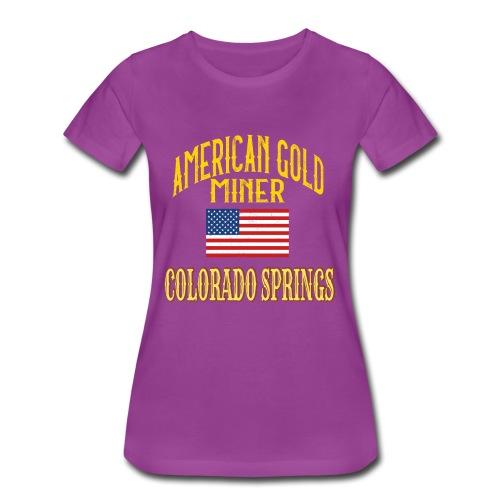 AMERICA GOLD MINER - Women's Premium T-Shirt