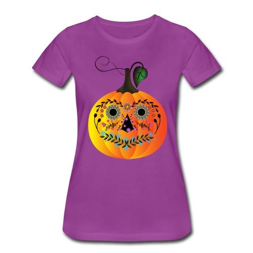 Sugar Skull Pumpkin - Women's Premium T-Shirt