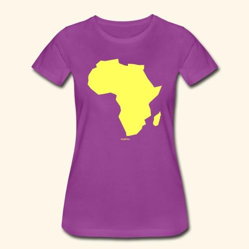 Africa Map Continent yellow - Women's Premium T-Shirt