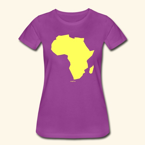 Africa Map Continent yellow - Women's Premium T-Shirt