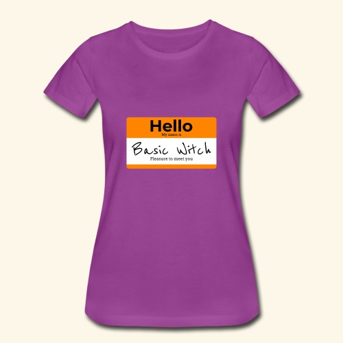 Hello My Name Is Basic Witch | Halloween Nametag - Women's Premium T-Shirt