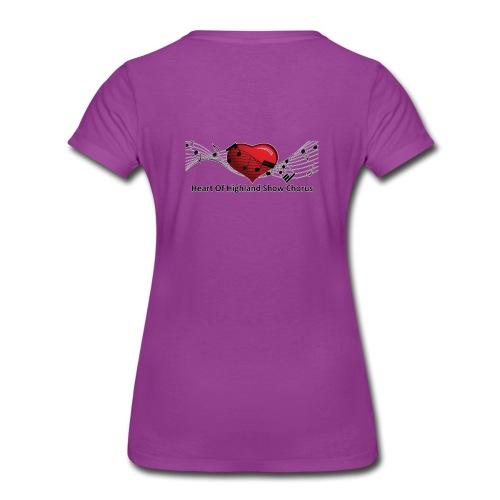 Lg transparent logo on back HOH Show Chorus - Women's Premium T-Shirt