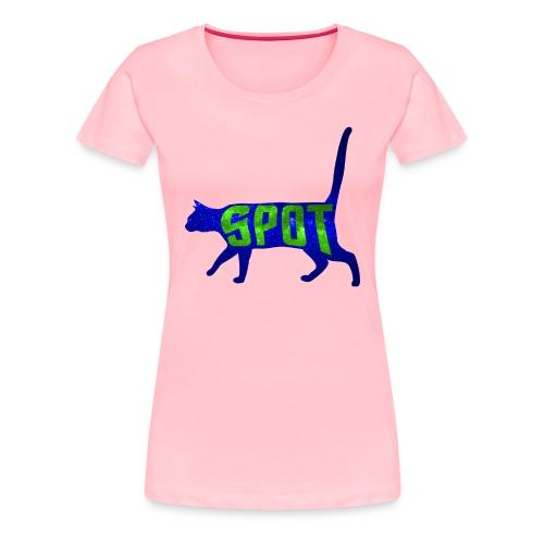 Data's Cat Spot (Blue and Green) - Women's Premium T-Shirt