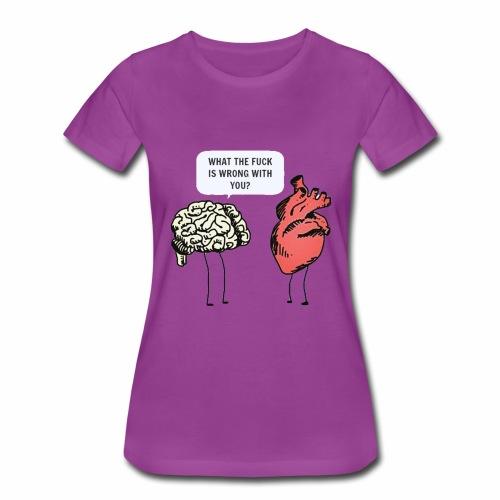 brain vs heart - Women's Premium T-Shirt