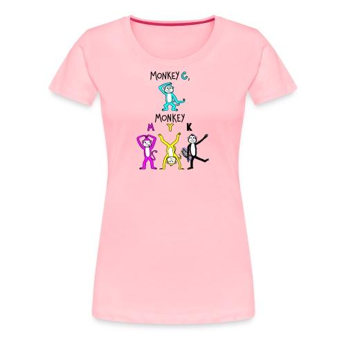 monkey see myk - Women's Premium T-Shirt