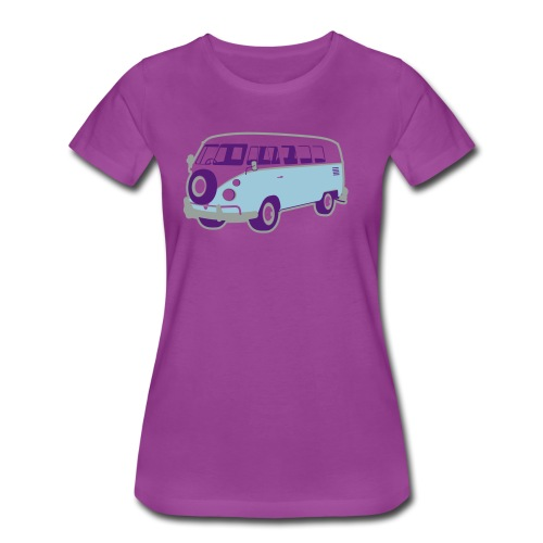 Surf surfers camper hippy surfbus - Women's Premium T-Shirt