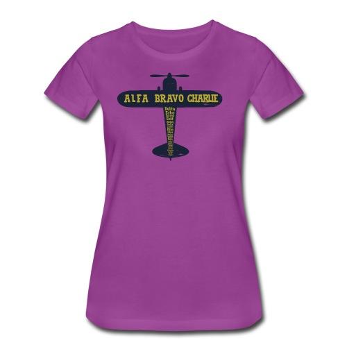 International Phonetic Alphabet Airplane - Women's Premium T-Shirt