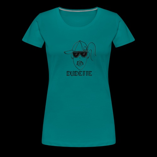 Dudette Head 2 - Women's Premium T-Shirt