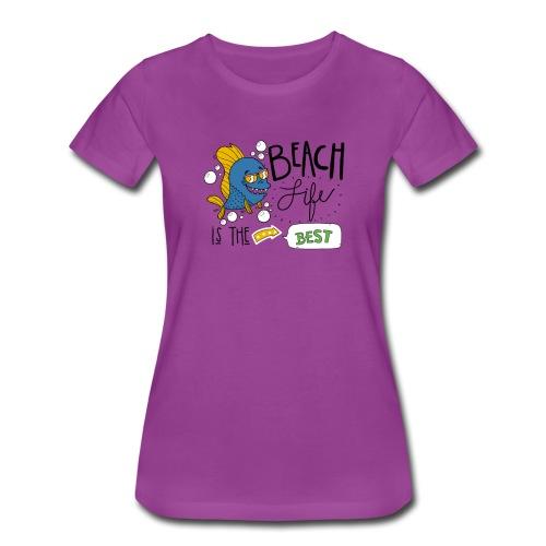 Cute Beach Life Is The Best Motivational Gift - Women's Premium T-Shirt