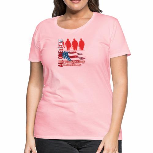 All One Team Sideways Design with Flag - Women's Premium T-Shirt