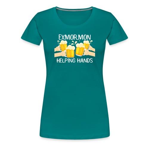 Exmormon Helping Hands white typo - Women's Premium T-Shirt