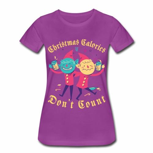 Christmas Calories Don't Count | Drinking Elves - Women's Premium T-Shirt