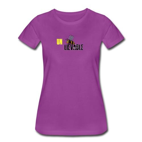 Unbee lievable Bee Design - Women's Premium T-Shirt