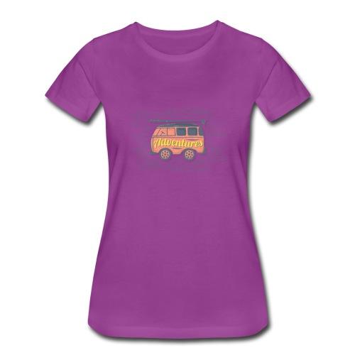 Cute Adventures Bus Inspirational Outdoor Gift - Women's Premium T-Shirt