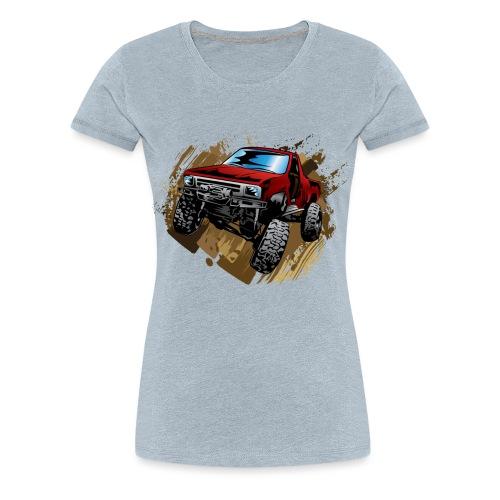 Muddy Red Truck - Women's Premium T-Shirt