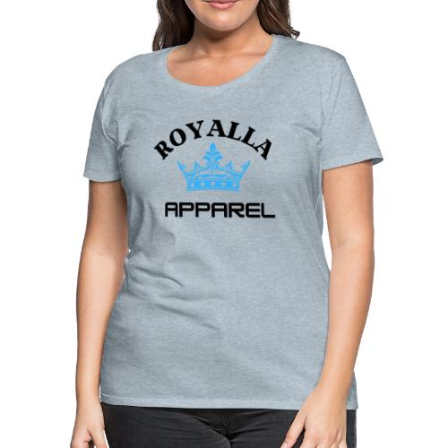 Royalla Apparel LogoBlack with Blue Words - Women's Premium T-Shirt