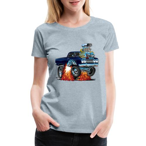 Classic Sixties Muscle Car Cartoon - Women's Premium T-Shirt
