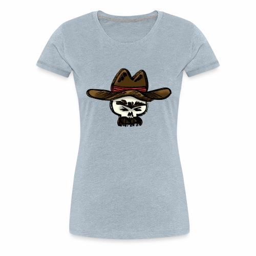 Ranchero Skull (Color) - Women's Premium T-Shirt