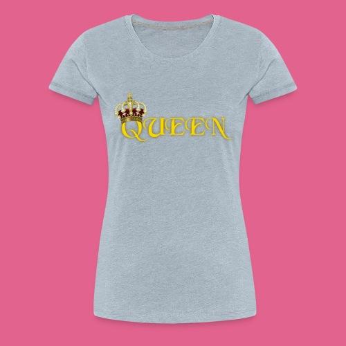 GOLD QUEEN CROWN GEMS AND DIAMONDS - Women's Premium T-Shirt