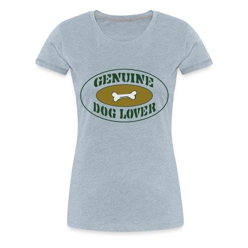 Genuine Dog Lover - Women's Premium T-Shirt