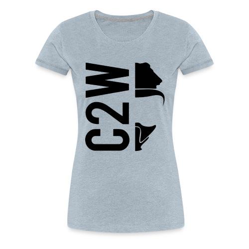 C2W Split Logo - Black - Premium Tee - Women's Premium T-Shirt