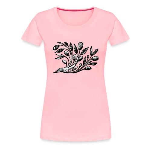 Decorative Bough - Branch Motif - Women's Premium T-Shirt