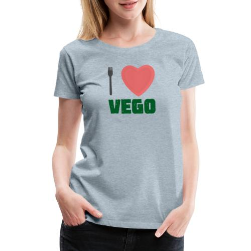 I love Vego - Clothes for vegetarians - Women's Premium T-Shirt