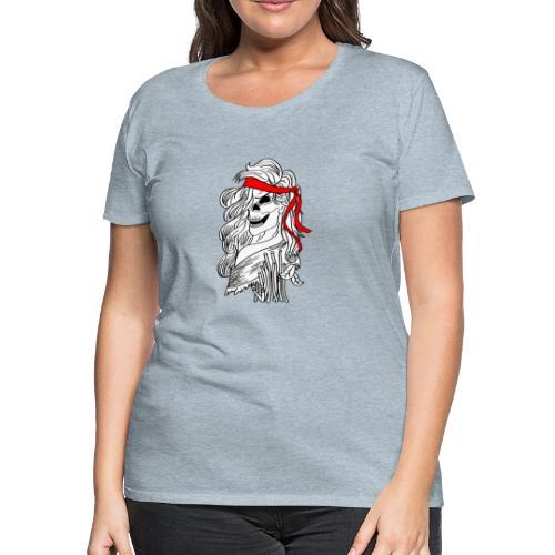skull woman - Women's Premium T-Shirt
